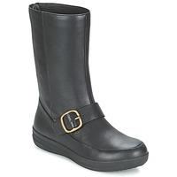 Pantofi Femei Ghete FitFlop FF-LUX BIKER Negru