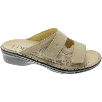 Pantofi Femei Papuci de vară Calzaturificio Loren LOM2714be marrone