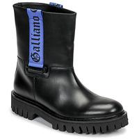 Pantofi Bărbați Ghete John Galliano 8560 Negru / Albastru