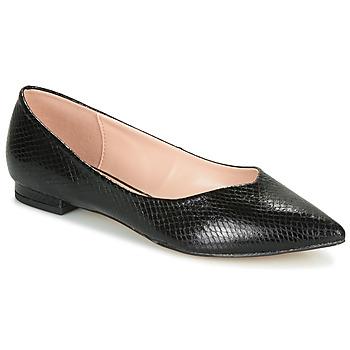 Pantofi Femei Balerin și Balerini cu curea André LISERON Negru / Imprimeu