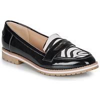 Pantofi Femei Mocasini André PORTLAND Negru / Imprimeu