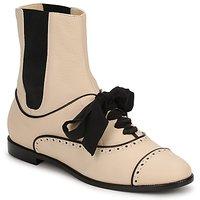 Pantofi Femei Ghete Moschino MA2103 Bej