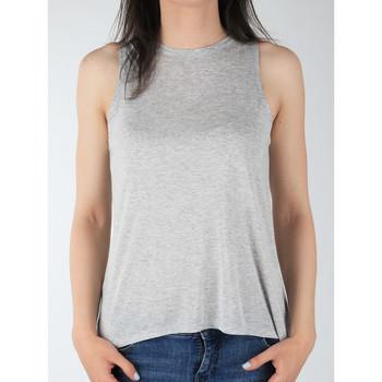 Îmbracaminte Femei Maiouri și Tricouri fără mânecă Lee Tank L40MRB37 grey