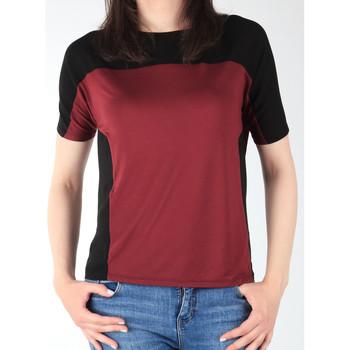 Îmbracaminte Femei Tricouri mânecă scurtă Lee Color Block T L40XJMLL black, burgundy