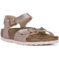 Pantofi Fete Sandale  Birkenstock RIO METALLIC LILAC Grigio