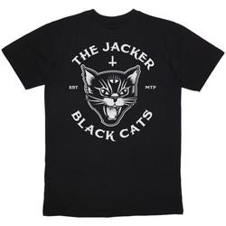 Îmbracaminte Bărbați Tricouri mânecă scurtă Jacker Black cats Negru