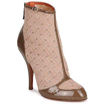 Pantofi Femei Botine Missoni LISCIA Bej / Maro