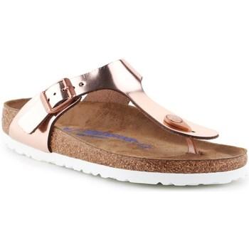 Pantofi Femei  Flip-Flops Birkenstock Gizeh BS De aur, Bej