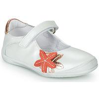 Pantofi Fete Balerin și Balerini cu curea GBB EMILIETTE Alb