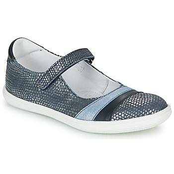 Pantofi Fete Balerin și Balerini cu curea GBB ECOPA Albastru