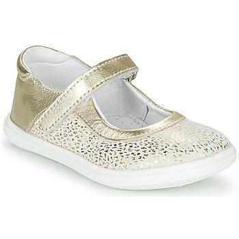Pantofi Fete Balerin și Balerini cu curea GBB PLACIDA Alb / Auriu