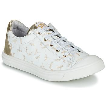 Pantofi Fete Pantofi sport Casual GBB MATIA Alb / Auriu