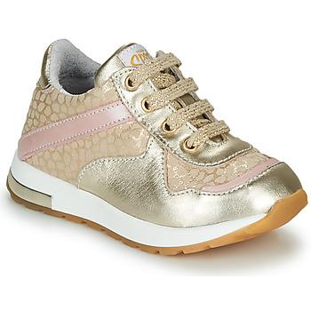 Pantofi Fete Pantofi sport Casual GBB LELIA Auriu / Bej