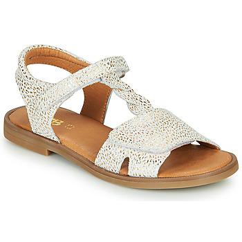 Pantofi Fete Sandale  GBB FARENA Alb / Auriu