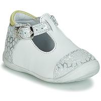 Pantofi Fete Balerin și Balerini cu curea GBB MERTONE Alb