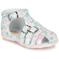 Pantofi Fete Sandale  GBB RIVIERA Alb / Roz