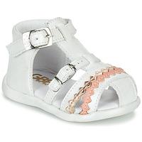 Pantofi Fete Sandale  GBB ALIDA Alb
