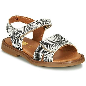 Pantofi Fete Sandale  GBB CAVOLA Alb / Negru