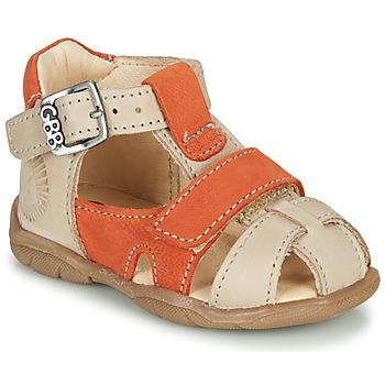 Pantofi Băieți Sandale  GBB SEROLO Bej / Portocaliu