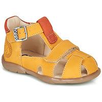 Pantofi Băieți Sandale  GBB SEROLO Galben / Portocaliu