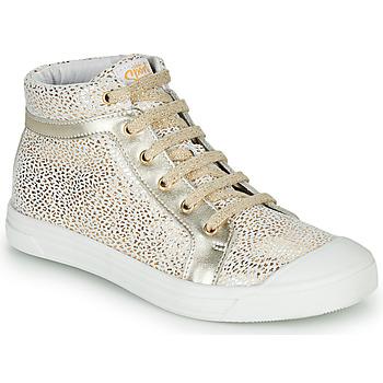 Pantofi Fete Pantofi sport stil gheata GBB NAVETTE Alb / Auriu
