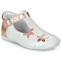 Pantofi Fete Balerin și Balerini cu curea GBB ANAXI Alb / Roz / Gold
