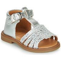 Pantofi Fete Sandale  GBB ATECA Argintiu