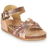 Pantofi Fete Sandale  GBB ALECTA Roz / Gold