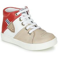 Pantofi Băieți Pantofi sport stil gheata GBB AMOS Bej / Alb / Roșu