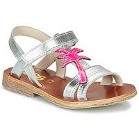Pantofi Fete Sandale  GBB SAPELA Argintiu / Roz