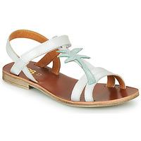 Pantofi Fete Sandale  GBB SAPELA Alb