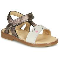 Pantofi Fete Sandale  GBB NAZETTE Bej / Bronz