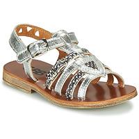 Pantofi Fete Sandale  GBB FANNI Argintiu