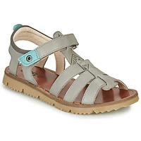 Pantofi Băieți Sandale  GBB PATHE Gri / Albastru