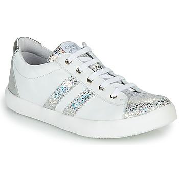 Pantofi Fete Pantofi sport Casual GBB MAPLUE Alb / Argintiu