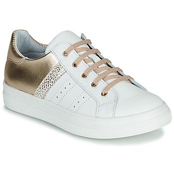 Pantofi Fete Pantofi sport Casual GBB DANINA Alb / Auriu