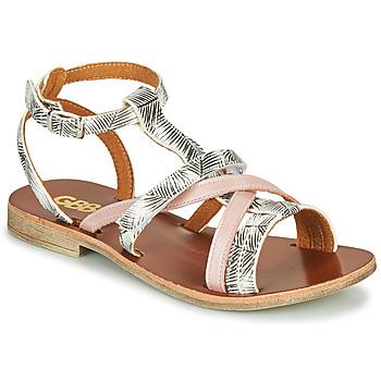 Pantofi Fete Sandale  GBB JULIA Alb / Roz