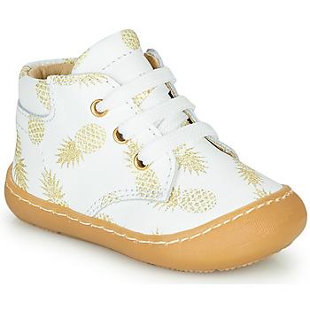 Pantofi Fete Pantofi sport stil gheata GBB ATARINA Alb / Auriu