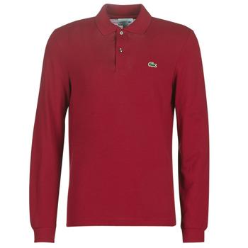 Îmbracaminte Bărbați Tricou Polo manecă lungă Lacoste L1312 Roșu-bordeaux