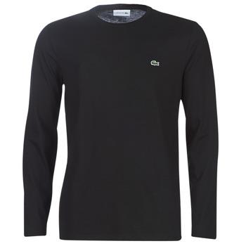 Îmbracaminte Bărbați Tricouri cu mânecă lungă  Lacoste TH6712 Negru