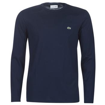Îmbracaminte Bărbați Tricouri cu mânecă lungă  Lacoste TH6712 Albastru