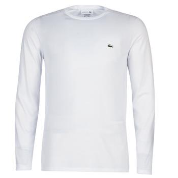 Îmbracaminte Bărbați Tricouri cu mânecă lungă  Lacoste TH6712 Alb