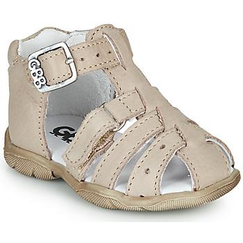 Pantofi Băieți Sandale  GBB ARIGO Alb / Prăfuit