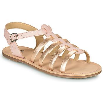 Pantofi Fete Sandale  Citrouille et Compagnie MAYANA Roz / Auriu