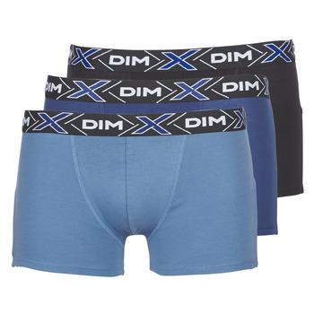 Lenjerie intimă Bărbați Boxeri DIM X-TEMP BOXER x3 Albastru / Albastru / Negru