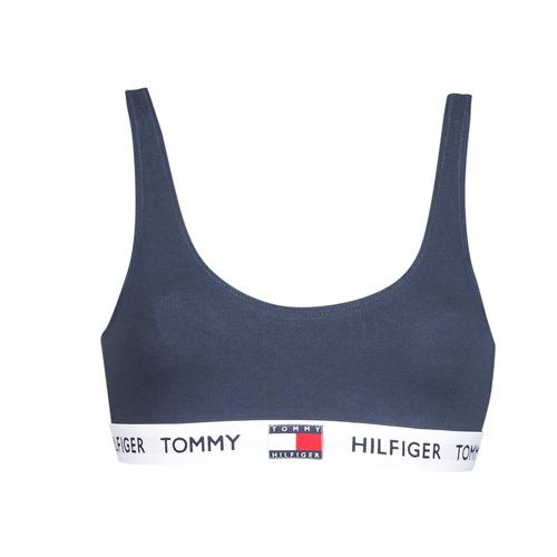 Lenjerie intimă Femei Bustiere sport Tommy Hilfiger ORGANIC COTTON Bleumarin