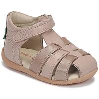 Pantofi Fete Sandale  Kickers BIGFLO-2 Roz / Metal