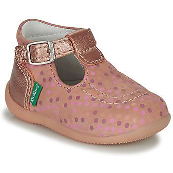 Pantofi Fete Sandale  Kickers BONBEK-3 Roz / Picățele buline
