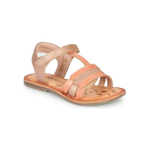 Pantofi Fete Sandale  Kickers DIAMANTO Roz / Portocaliu