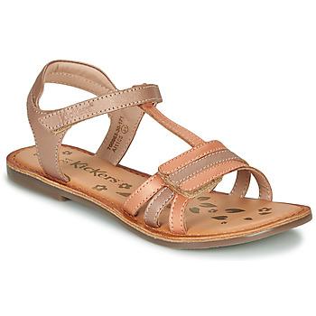 Pantofi Fete Sandale  Kickers DIAMANTO Portocaliu / Roz